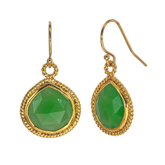 Chrysophrase Droplet Earrings