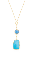 Long Turquoise and Blue Chalcedony Necklace