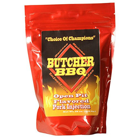 Butcher BBQ Open Pit Flavored Pork Injection 1 pound