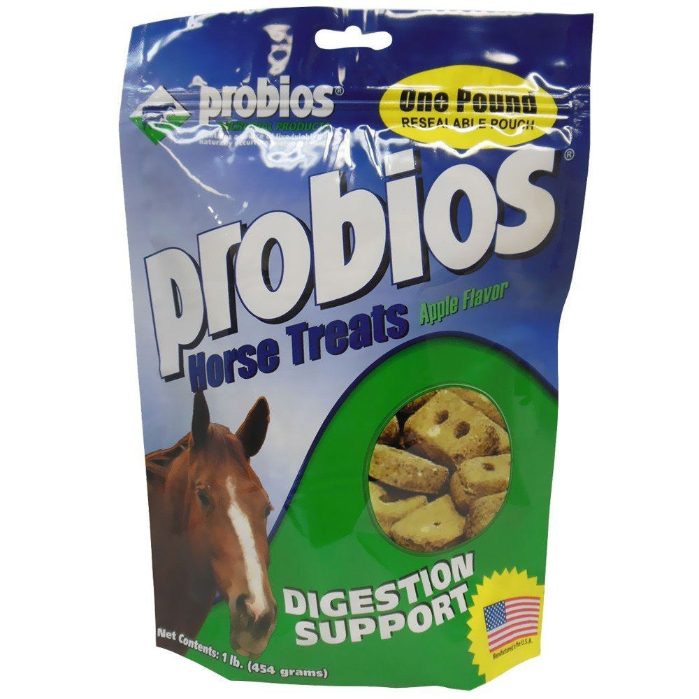 Probios® Horse Treats Digestion Support - Apple Flavor 1lb Pouch