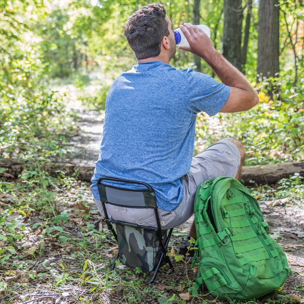 Hiking and Camping Gear Plus ULTRA compact folding chair fits in a backpack