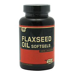 Optimum Nutrition Flaxseed Oil Softgels - 100 Softgels - 748927025897