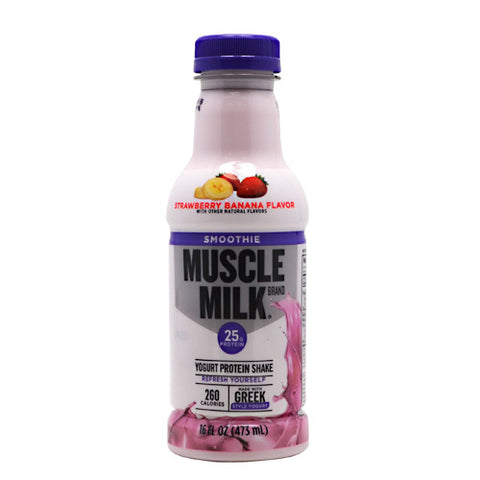 Cytosport Muscle Milk Smoothie - Strawberry Banana - 12 Bottles - 00876063006255