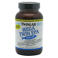 TwinLab Mega Twin EPA Fish Oil - 60 Softgels - 027434001861