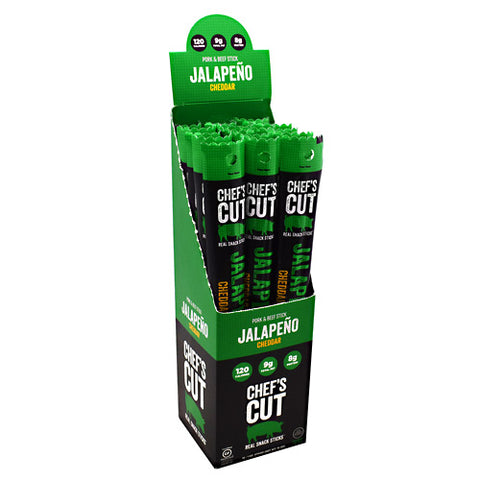 Chefs Cut Real Jerky Pork & Beef Stick Real Snack Sticks - Jalapeno - 16 ea - 40858959005373