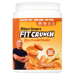 Fit Crunch Bars Whey Protein Powder - Peanut Butter - 18 Servings - 817719020584