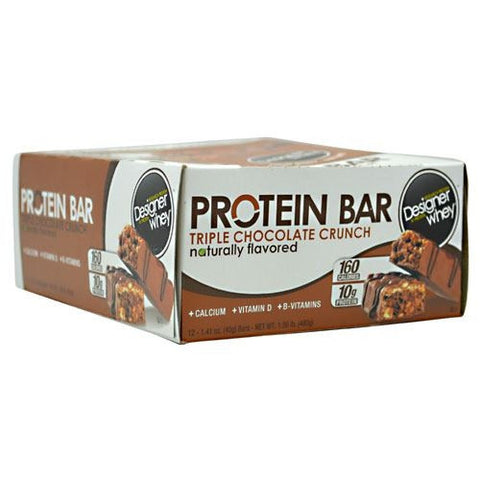 Designer Protein Protein Bar - Triple Chocolate Crunch - 12 Bars - 844334009496