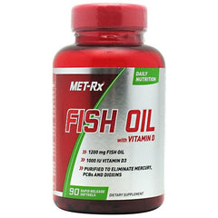MET-Rx Fish Oil & Vitamin D - 90 Tablets - 786560509893