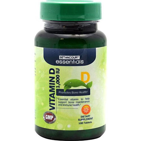 Betancourt Nutrition Betancourt Essentials Vitamin D - 100 Tablets - 857487003884