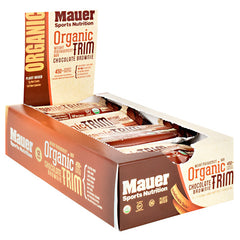 Mauer Sports Nutrition Organic Trim Bar - Chocolate Brownie - 12 Bars - 855502007046