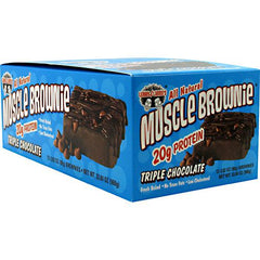 Lenny & Larrys Muscle Brownies - Triple Chocolate - 12 ea - 787692835140