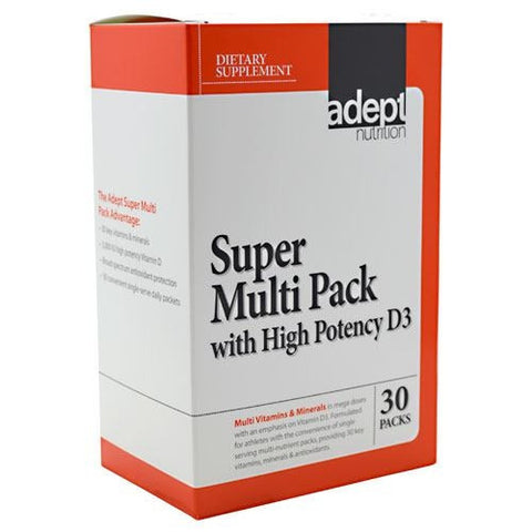 Adept Nutrition Super Multi Pack with High Potency D3 - 30 ea - 015522810150