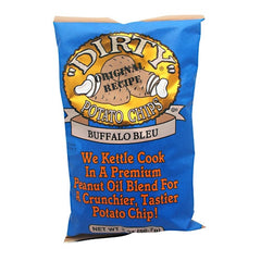 """Dirty"" Potato Chips Buffalo Bleu Potato Chips - Original - 25 ea - 083791520285"