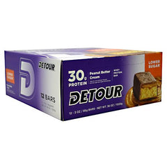 Forward Foods Detour Low Sugar Whey Protein Bar - Peanut Butter Cream - 12 Bars - 733913009272