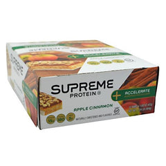 Supreme Protein Accelerate Morning Protein Bar - Apple Cinnamon - 12 Bars - 639372233121