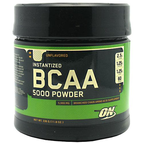 Optimum Nutrition Instantized BCAA 5000 Powder - Unflavored - 11.8 oz - 748927025224