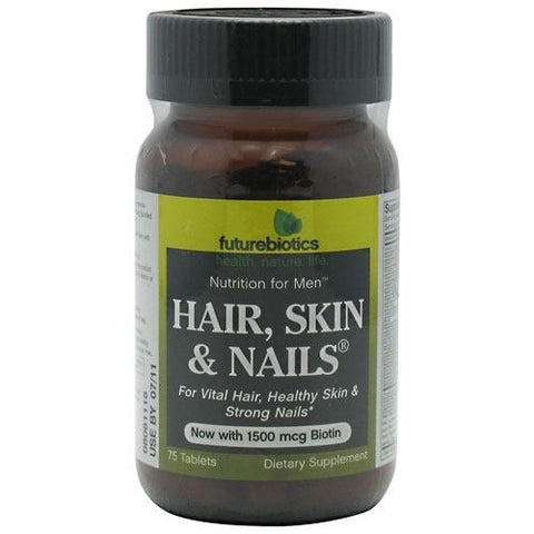 Futurebiotics Hair, Skin & Nails Men - 75 Tablets - 049479002115
