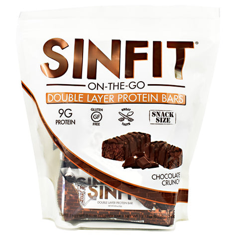 Sinister Labs Snack Size Sinfit Bar - Chocolate Crunch - 15 Bars - 853698007468