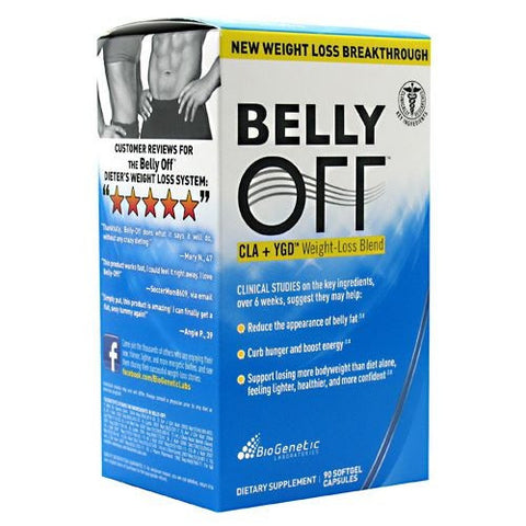 BioGenetic Laboratories Belly OFF - 90 Softgels - 883488002670