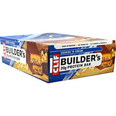Clif Bar Builders Cocoa Dipped Double Decker Crisp Bar - Cookies N Cream - 12 Bars - 722252600400