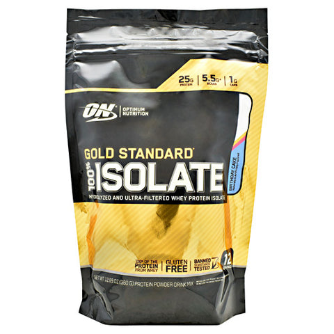 Optimum Nutrition Gold Standard 100% Isolate - Birthday Cake - 12 Servings - 748927060744
