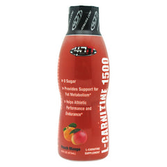 4 Dimension Nutrition L-Carnitine 1500 - Peach Mango - 16 fl oz - 856036003757
