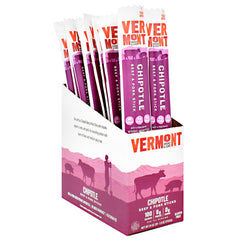 Vermont Smoked Meats Beef & Pork Sticks - Chipotle - 24 ea - 606274325766