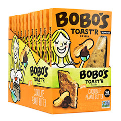 Bobos Toastr Pastry - Chocolate Peanut Butter - 12 ea - 829262001484