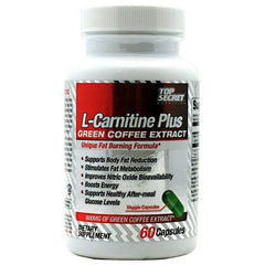 Top Secret Nutrition L-Carnitine Plus Green Coffee Extract - 60 Capsules - 858311002752