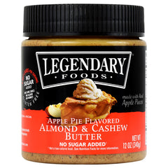 Legendary Foods Almond & Cashew Butter - Apple Pie - 12 oz - 856161006487