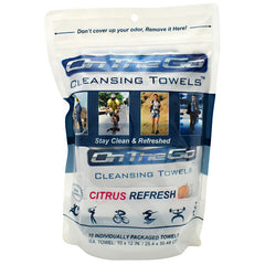 On The Go Towels Cleansing Towels - Citrus Refresh - 10 ea - 868876000063