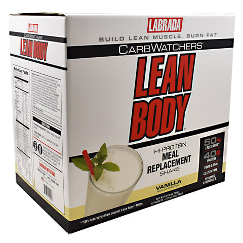 Labrada Nutrition Carb Watchers Lean Body - Vanilla - 42 Packets - 710779120006