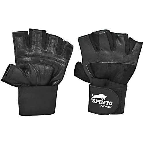 Spinto Fitness Mens Weight Lifting Gloves with Wrist Wraps