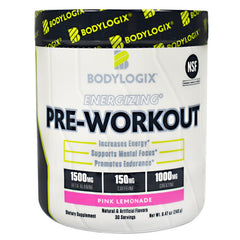 BodyLogix Energizing Pre-Workout - Pink Lemonade - 30 Servings - 694422030082