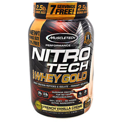 Muscletech Performance Series Nitro Tech 100% Whey Gold - French Vanilla Creme - 2.5 lb - 631656710472