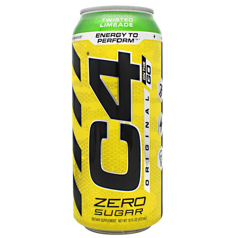 Cellucor Original C4 On the Go - Sparkling Twisted Limeade - 12 Cans - 842595106565