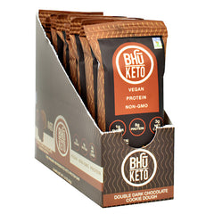 Bhu Foods BHU Keto - Double Dark Chocolate Cookie Dough - 8 Bars - 858087006312