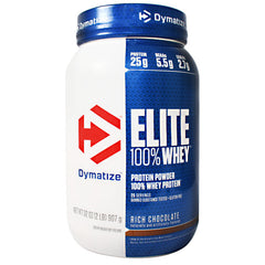 Dymatize Elite 100% Whey Protein - Rich Chocolate - 2 lb - 705016599141