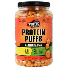 Twin Peaks Ingredients Protein Puffs - Margherita Pizza - 10 Servings - 850000796027