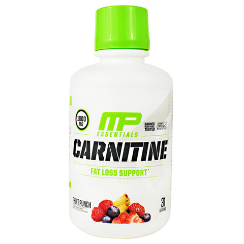 MusclePharm Essential Carnitine - Fruit Punch - 31 Servings - 856737003865