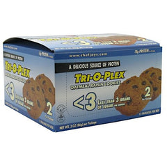 Chef Jays Tri-O-Plex Low Sugar Cookies - Oatmeal Raisin - 12 ea - 678991213107