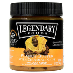 Legendary Foods Peanut Butter - Chocolate Chip - 12 oz - 856161006517