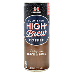 High Brew Coffee Cold Brew Coffee RTD - Black and Bold - 12 Cans - 10854560005046