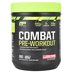 MusclePharm Combat Series Combat Pre-Workout - Fruit Punch - 30 Servings - 851387008727