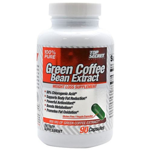 Top Secret Nutrition Green Coffee Bean Extract - 90 Capsules - 858311002929