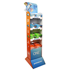 ISS Research One Bar Floor Display - Variety - 8 Bars - 788434105828