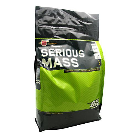 Optimum Nutrition Serious Mass - Strawberry - 12 lb - 748927023817