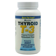 Absolute Nutrition Thyroid T3 - 180 Capsules - 708235088571