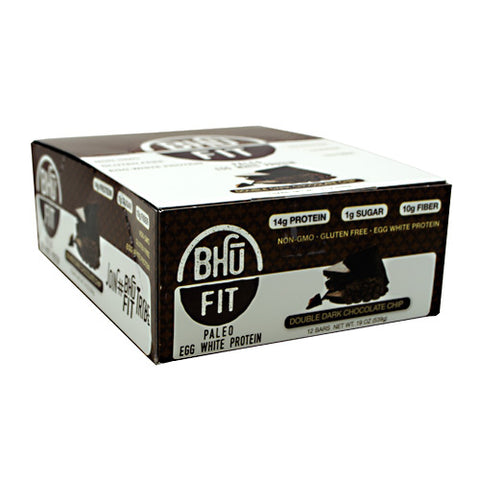 Bhu Foods BHU FIT BHU Fit Paleo - Double Dark Chocolate Chip - 12 Bars - 868163000134