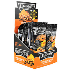 Legendary Foods Seasoned Almonds - Cheddar Bacon - 12 ea - 856161006319